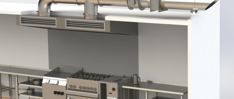 تست سیستم تهویه آشپزخانه صنعتی